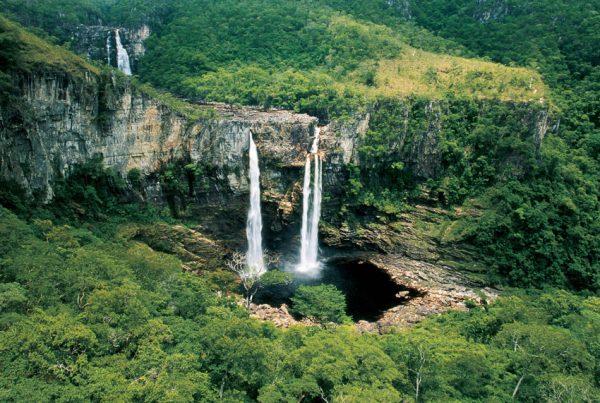 Saltos do Rio Preto - Atrativos na Chapada dos Veadeiros